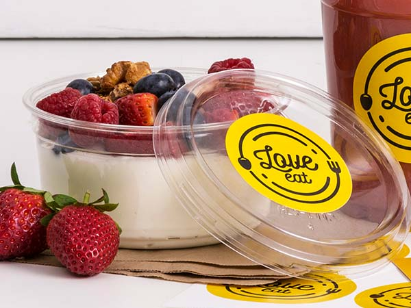 Plastic Food Container Labels