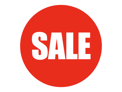 Round Sale Stickers
