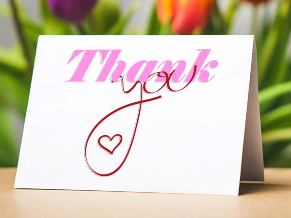 Wedding 'Thank You' Postcards