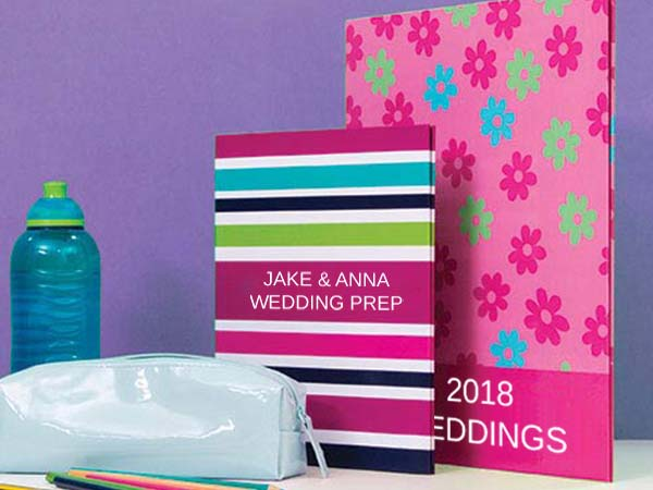 Custom Folders & Ring Binders for Weddings